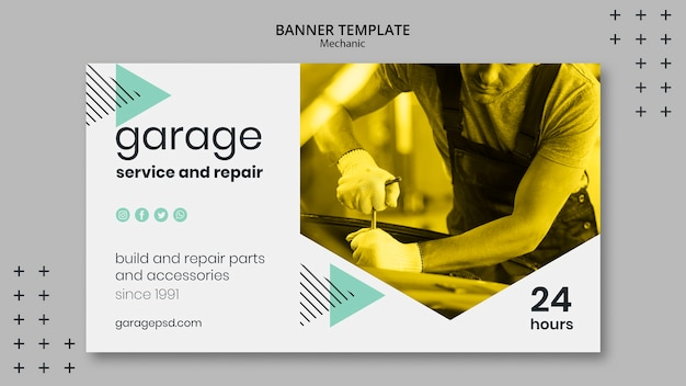 Banner template with mechanic