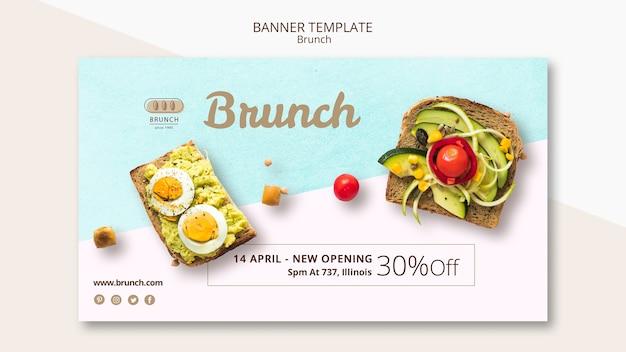 Modello di banner con offerta per il brunch