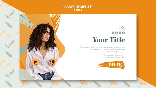Banner template with spring concept