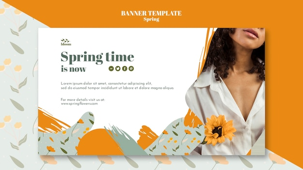 Banner template with spring sale