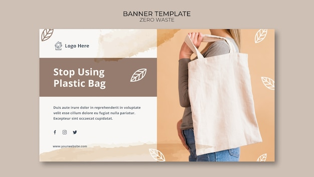 Banner template with zero waste