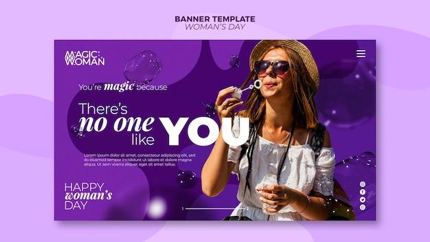 Modello di banner per l'evento del giorno della donna