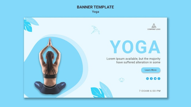 Banner template for yoga exercise
