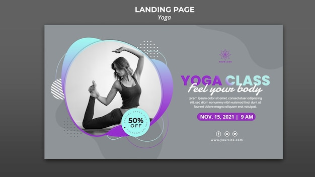 Banner template for yoga lessons