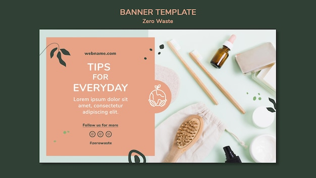 Banner template for zero waste lifestyle