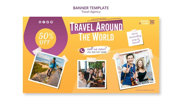 Banner travel agency template
