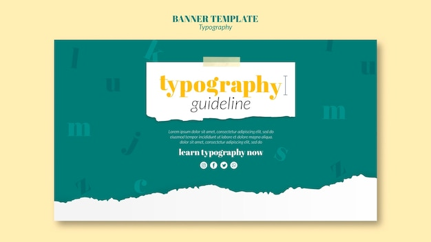 Banner typography service template