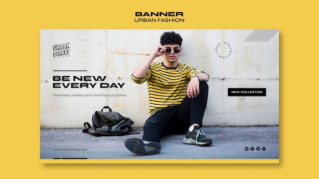 Banner urban fashion template