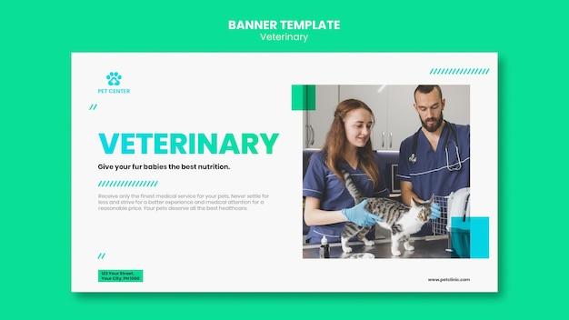 Modello di annuncio veterinario banner