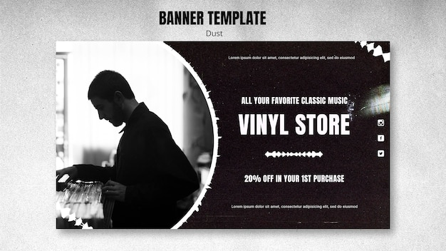 Banner vinyl store template