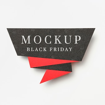 Banner on white background black friday sales mock-up
