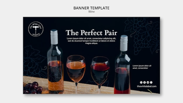 Banner wine shop template