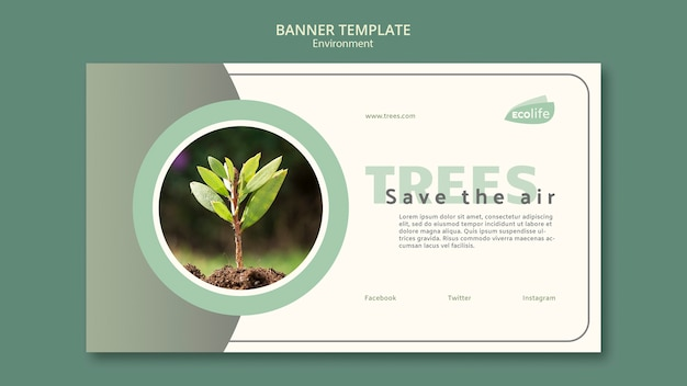 Banner with environment theme