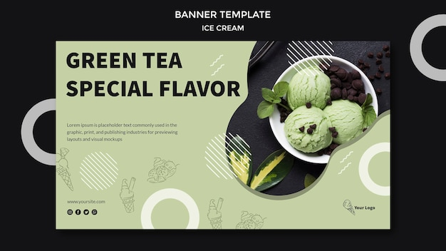 Banner with ice cream theme