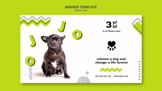 Banner con adozione di animali domestici