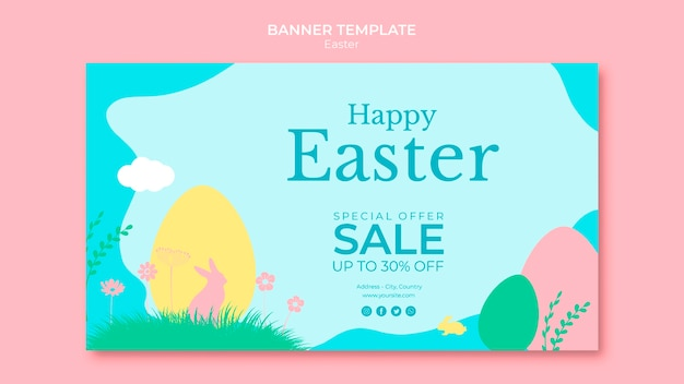 Banner with thematic easter sales