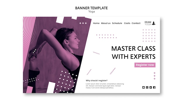 Banner with yoga template