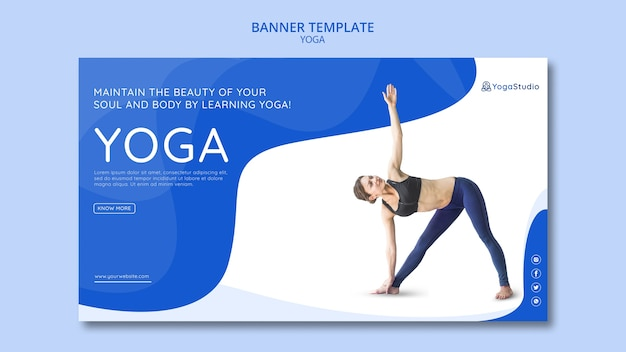 Banner for yoga fitness