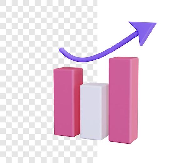 Гистограмма 3d иллюстрации концепция в простом стиле