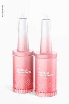Мокап бутылок для розлива сока Premium Psd