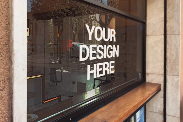 Bar window logo mockup