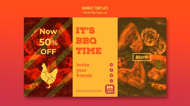 Barbecue concept banner template