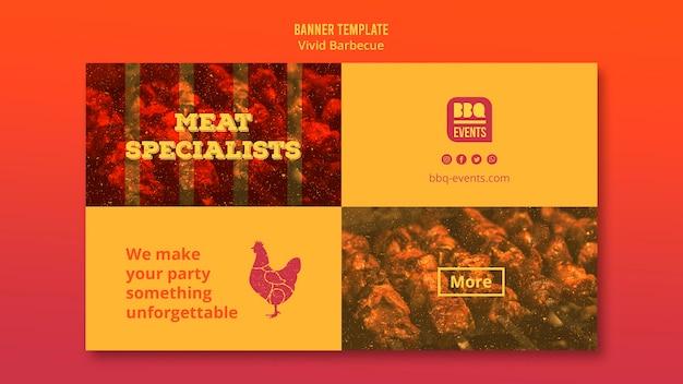 Шаблон баннер концепции барбекю