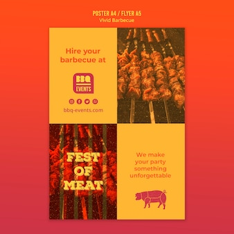 Barbecue concept flyer template