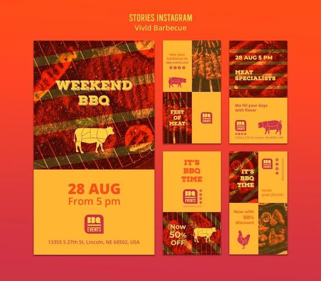 Концепция барбекю в стиле instagram