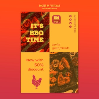 Barbecue concept poster template
