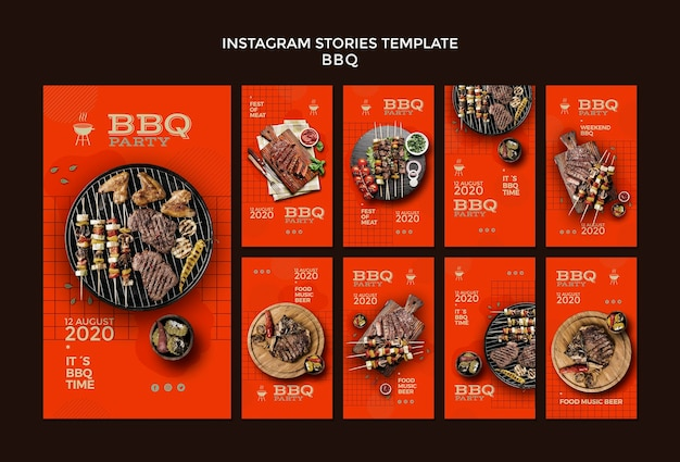 Barbecue party instagram stories template