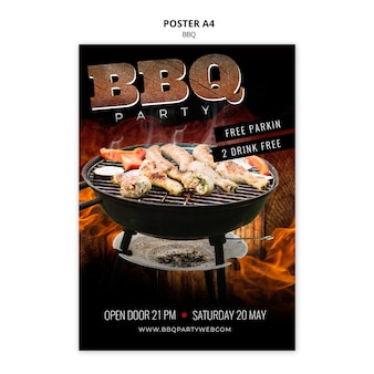 Barbecue template poster a4