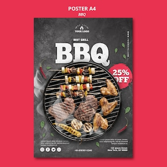 Barbeque banner template