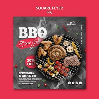 Barbeque flyer template design