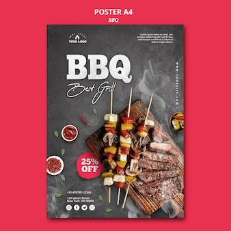 Barbeque poster template