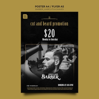 Barber shop ad template poster