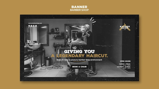 Barber shop banner template style