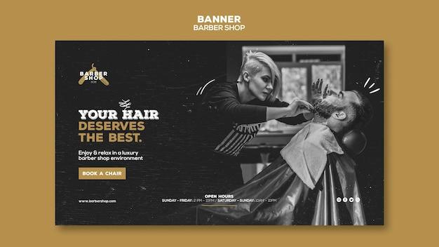 Banner del negozio di barbiere