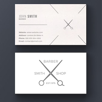 Barber shop business card