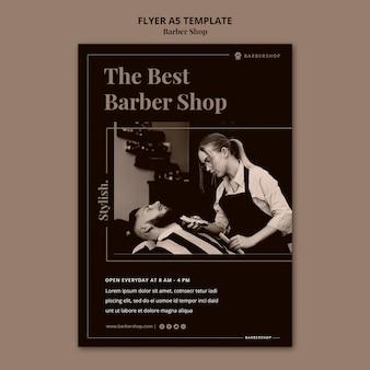 Modello di volantino del negozio di barbiere