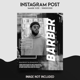 Barber shop instagram post template