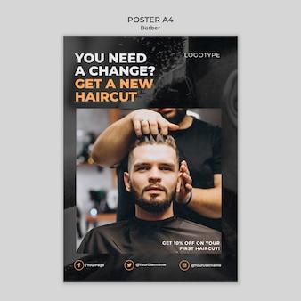 Barber shop poster template