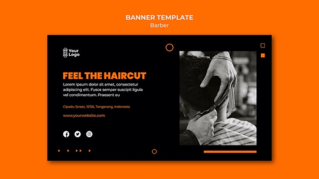 Barber shop template banner