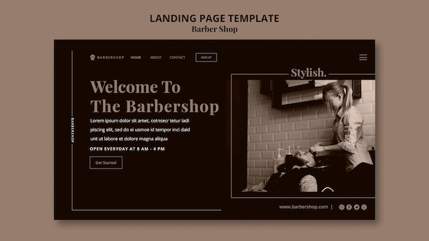 Barber shop web template