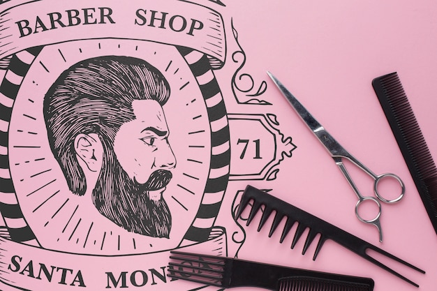 Макет для парикмахерских
