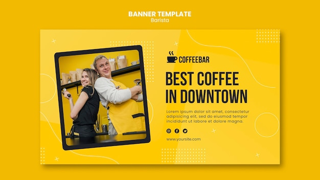 Barista banner template concept