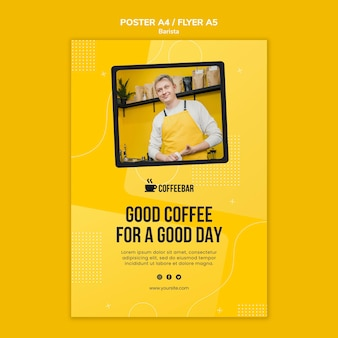 Barista poster template