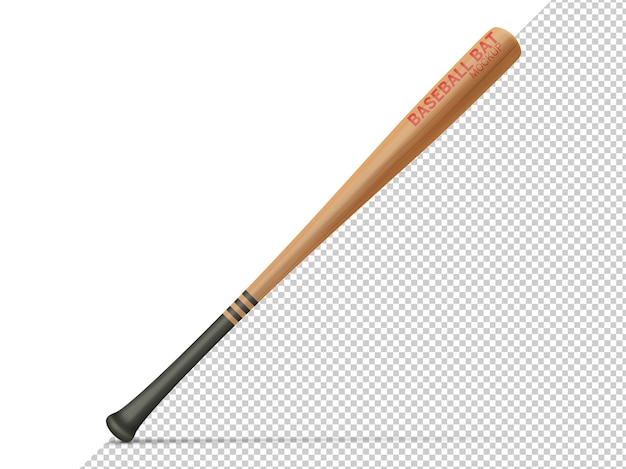 Baseball bat isolated mock up