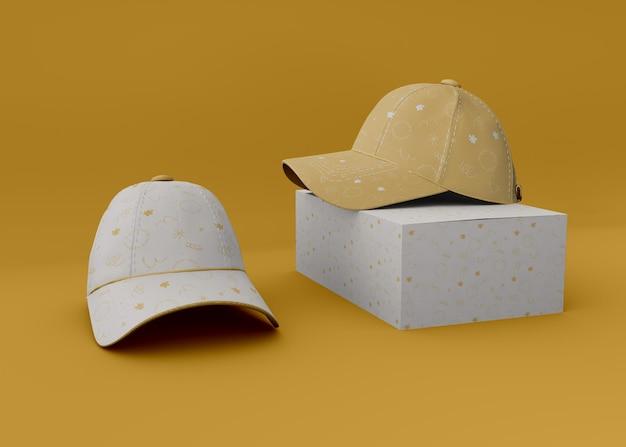 パッケージモックアップ付き野球帽