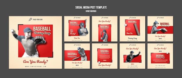 Baseball training social media post